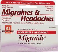 Homeopathy - Pain Relief - Boericke & Tafel - Boericke & Tafel Migraide 40 tab