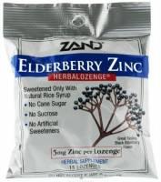 Health & Beauty - Cough Syrup & Lozenges - Zand - Zand HerbaLozenge - Elderberry Zinc 15 loz