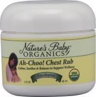 Nature's Baby Organics Chest Rub Organic Ah-Choo! 2 oz - Eucalyptus