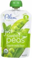 Baby - Toddler Feeding - Plum Organics - Plum Organics Just Veggies 3 oz - Sweet Pea (6 Pack)