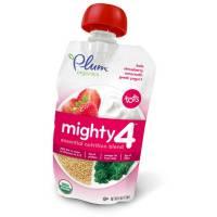 Baby - Toddler Feeding - Plum Organics - Plum Organics Mighty 4 Blend 4 oz - Kale Strawberry Amaranth & Greek Yogurt (6 Pack)