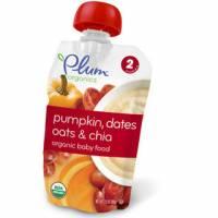Baby - Toddler Feeding - Plum Organics - Plum Organics Second Blends 3.5 oz - Pumpkin Dates Oats & Chia (6 Pack)