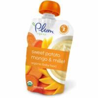 Baby - Toddler Feeding - Plum Organics - Plum Organics Second Blends 3.5 oz - Sweet Potato Mango & Millet (6 Pack)