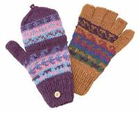 BuyItHealthy Collection - Clothing - BIH Collection - BIH Collection Alpaca Wool Colorful Fingerless Gloves with Flap