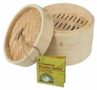"Kitchen - Bakeware & Cookware - BIH Collection - BIH Collection Bamboo Steamer Basket 7"""