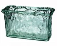 Home Products - Vases - BIH Collection - BIH Collection Recycled Glass Ice Vase Rectangle