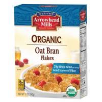 Grocery - Cereals - Arrowhead Mills - Arrowhead Mills Organic Oat Bran Flakes Cereal 12 oz