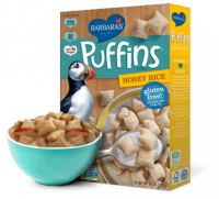 Grocery - Cereals - Barbara's Bakery - Barbara's Bakery Cereal Puffins Honey Rice 10 oz (12 Pack)