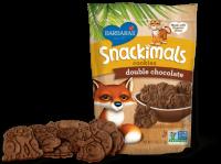 Barbara's Bakery Snackimals Animal Cookies Double Chocolate 7.5 oz (6 Pack)