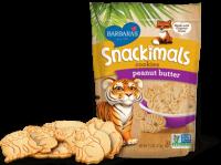Barbara's Bakery Snackimals Animal Cookies Peanut Butter 2 oz (18 Pack)