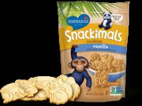 Barbara's Bakery Snackimals Animal Cookies Vanilla 7.5 oz (6 Pack)