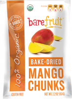 Grocery - Cookies & Sweets - Bare Fruit - Bare Fruit Bake-Dried Mango Chunks 63g (6 Pack)