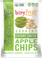 Bare Fruit Granny Smith Apple Chips Organic 63g (6 Pack)