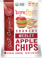 Grocery - Cookies & Sweets - Bare Fruit - Bare Fruit Medley Apple Chips Organic 63g (6 Pack)