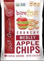 Bare Fruit Medley Apple Chips Organic 63g (6 Pack)