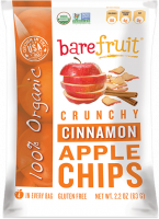 Grocery - Cookies & Sweets - Bare Fruit - Bare Fruit Organic Cinnamon Apple Chips 63g (6 Pack)