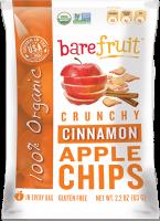 Bare Fruit Organic Cinnamon Apple Chips 63g (6 Pack)