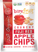 Grocery - Cookies & Sweets - Bare Fruit - Bare Fruit Organic Fuji Red Apple Chips 63g (6 Pack)