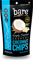 Bare Fruit Simply Toasted Coconut Chips 40g (6 Pack)