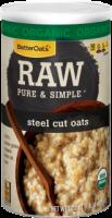 Better Oats Raw Pure & Simple Steel Cut Oats 16 oz (6 Pack)