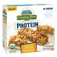 Cascadian Farm Honey Roasted Nut Protein Chewy Bars 5 ct (12 Pack)