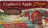 Gluten Free - Tea & Grain Coffee - Celestial Seasonings - Celestial Seasonings Cranberry Apple Zinger Herbal Tea - 20 Bags