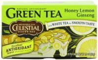 Gluten Free - Tea & Grain Coffee - Celestial Seasonings - Celestial Seasonings Honey Lemon Ginseng Green Tea - 20 Bags