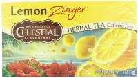Gluten Free - Tea & Grain Coffee - Celestial Seasonings - Celestial Seasonings Lemon Zinger Herbal Tea - 20 Bags