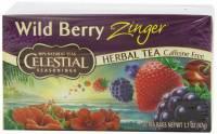 Gluten Free - Tea & Grain Coffee - Celestial Seasonings - Celestial Seasonings Wild Berry Zinger Herbal Tea - 20 Bags