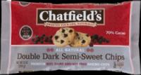 Chatfield's Double Dark Semi-Sweet Chips 10 oz (12 Pack)