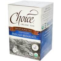 Choice Organic Teas Decaffeinated English Breakfast (16 bags)
