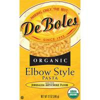 DeBoles - DeBoles Organic Artichoke Pasta Elbows 12 oz (12 Pack)