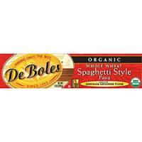 Grocery - Noodles & Pastas - DeBoles - DeBoles Organic Whole Wheat Spaghetti 8 oz (12 Pack)