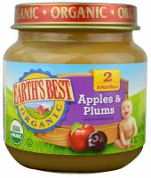 Grocery - Baby Foods - Earth's Best  - Earth's Best Baby Foods Organic Apples & Plums 4 oz (12 Pack)
