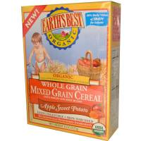 Grocery - Baby Foods - Earth's Best  - Earth's Best Baby Foods Organic Apples & Sweet Potatoes Mixed Grain Cereal 8 oz (12 Pack)