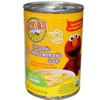 Grocery - Baby Foods - Earth's Best  - Earth's Best Baby Foods Organic Elmo Noodlemania Soup 14.5 oz (12 Pack)
