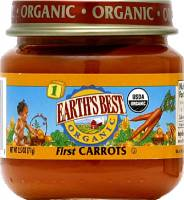 Grocery - Baby Foods - Earth's Best  - Earth's Best Baby Foods Organic First Carrots 2.5 oz (12 Pack)