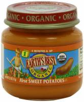 Grocery - Baby Foods - Earth's Best  - Earth's Best Baby Foods Organic First Sweet Potatoes 4 oz (12 Pack)