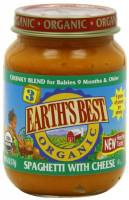 Grocery - Baby Foods - Earth's Best  - Earth's Best Baby Foods Organic Junior - Spaghetti with Cheese 6 oz (12 Pack)
