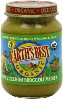 Grocery - Baby Foods - Earth's Best  - Earth's Best Baby Foods Organic Junior - Zucchini Broccoli Melody 6 oz (12 Pack)