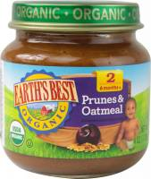Grocery - Baby Foods - Earth's Best  - Earth's Best Baby Foods Organic Prunes & Oatmeal 4 oz (12 Pack)