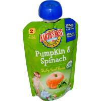 Grocery - Baby Foods - Earth's Best  - Earth's Best Baby Foods Organic Pumpkin & Spinach Puree Pouch 3.5 oz (12 Pack)