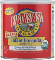 Grocery - Baby Foods - Earth's Best  - Earth's Best Baby Foods Organic Soy Infant Formula with Iron & ARA/DHA 23.2 oz (4 Pack)