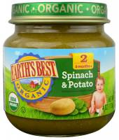 Grocery - Baby Foods - Earth's Best  - Earth's Best Baby Foods Organic Spinach & Potatoes (12 Pack)
