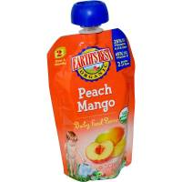 Grocery - Baby Foods - Earth's Best  - Earth's Best Baby Foods Organic Stage 2 - Peach Mango Baby Food Puree 4 oz (12 Pack)