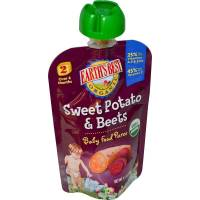 Grocery - Baby Foods - Earth's Best  - Earth's Best Baby Foods Organic Sweet Potato & Beet Pouch 3.5 oz (12 Pack)