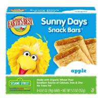 Grocery - Baby Foods - Earth's Best  - Earth's Best Baby Foods Sesame Street Sunny Days Apple Snack Bars 5.3 oz (6 Pack)