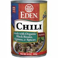 Grocery - Beans & Lentils - Eden Foods - Eden Foods Black Bean & Quinoa Chili 14 oz (6 Pack)