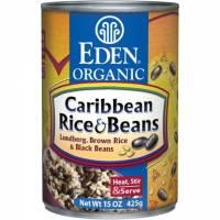 Grocery - Beans & Lentils - Eden Foods - Eden Foods Brown Rice & Caribbean Black Beans 15 oz (6 Pack)