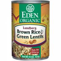 Specialty Sections - Macrobiotic - Eden Foods - Eden Foods Brown Rice & Green Lentils 15 oz (6 Pack)